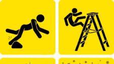 Caída a mismo nivel, caída en altura